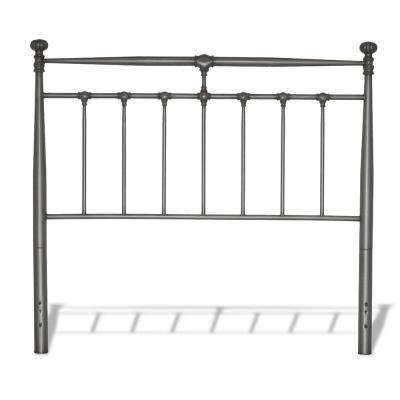 Kensington Vintage Silver Queen Metal Headboard with Stately Posts and Detailed Castings