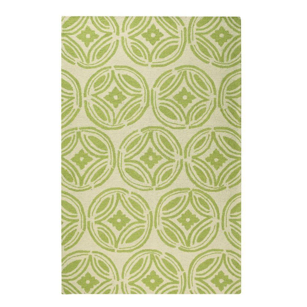 Home Decorators Collection Keepsake Green/Ivory 2 ft. 6 in. x 4 ft. Area Rug