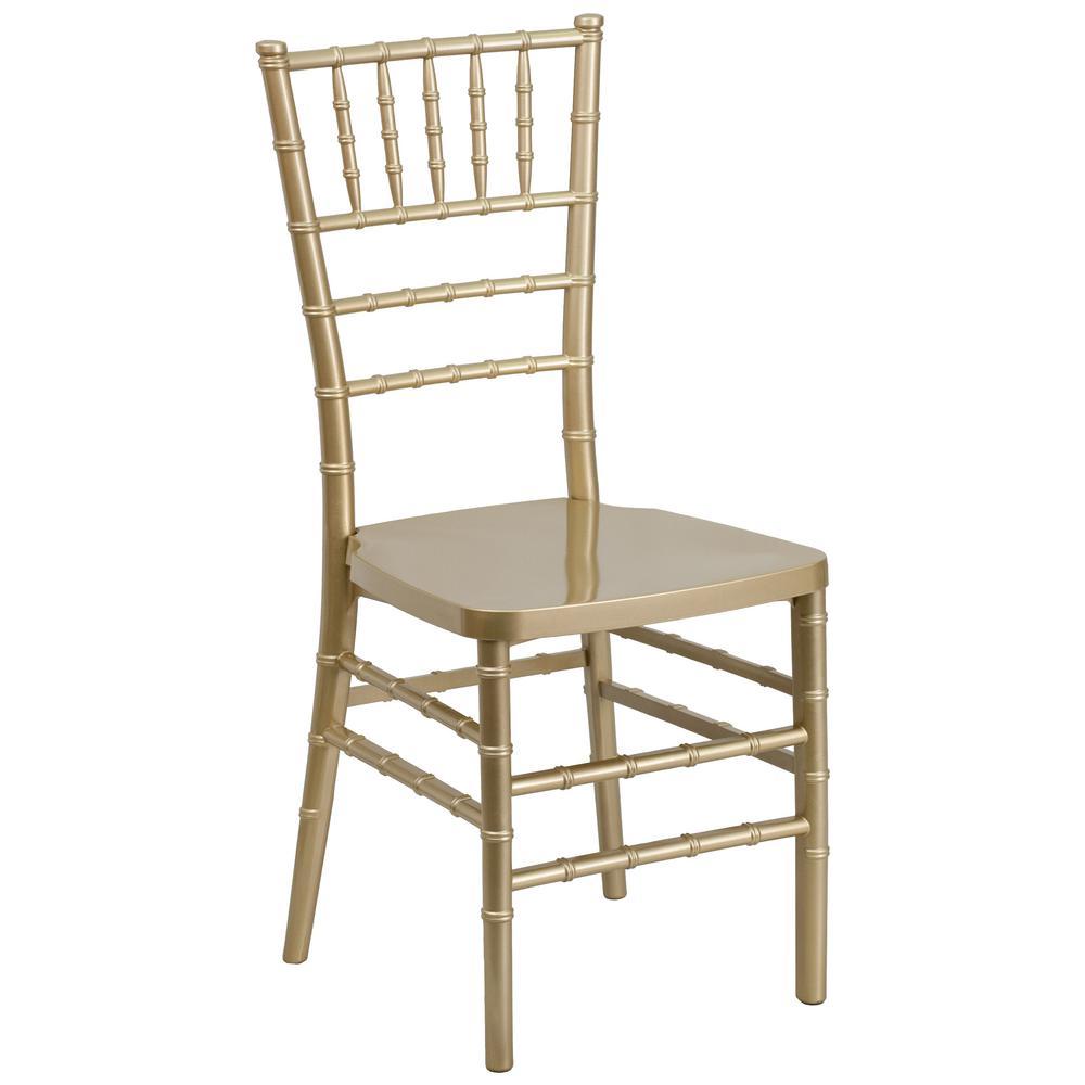 Flash Furniture Hercules Premium Series Gold Resin Stacking Chiavari Chair