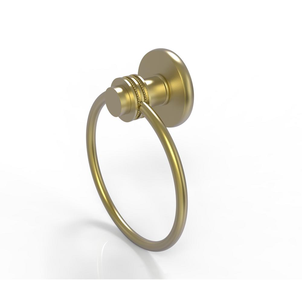 Allied Brass Mercury Collection Towel Ring with Dotted Accent in Satin Brass