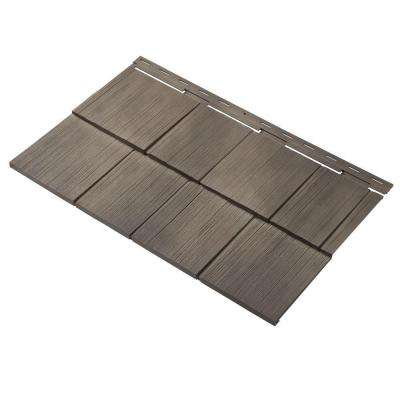 Cedar Dimensions Shingle 24 in. Polypropylene Siding Sample in Shaded Cedar