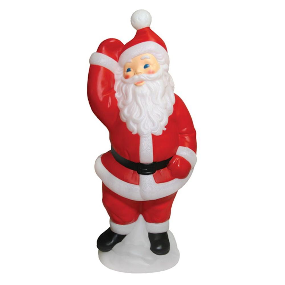 General foam 40 in dancing santa hd c5770 the home depot for Home depot christmas lawn decorations