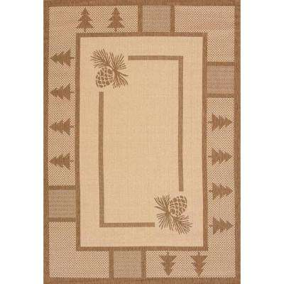 Pine Court Brown 3 ft. x 4 ft. Indoor/Outdoor Area Rug