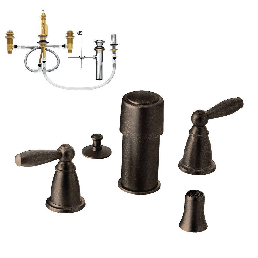 Brantford 2-Handle Bidet Faucet Trim Kit with Valve in Oil Rubbed Bronze