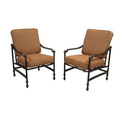 Niles Park Patio Lounge Chairs with Cashew Cushions (2-Pack)