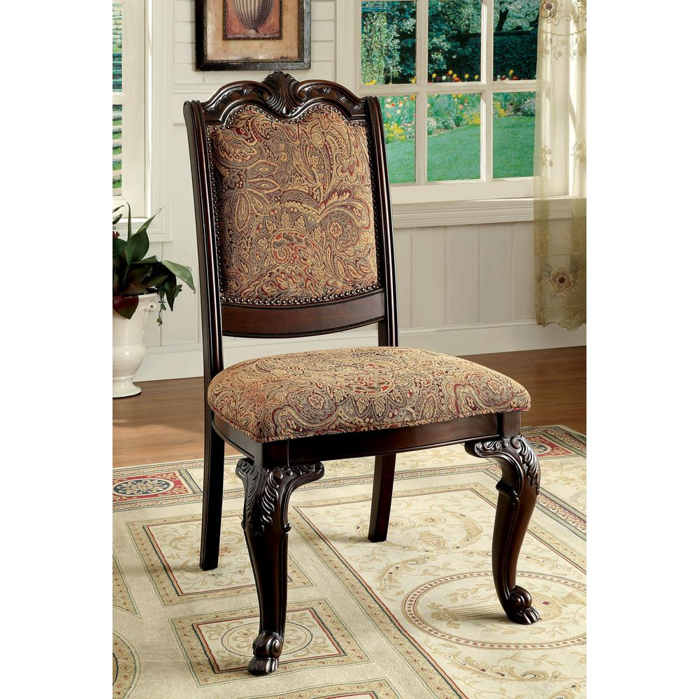 BELLAGIO Brown Cherry Traditional Style Side Chair