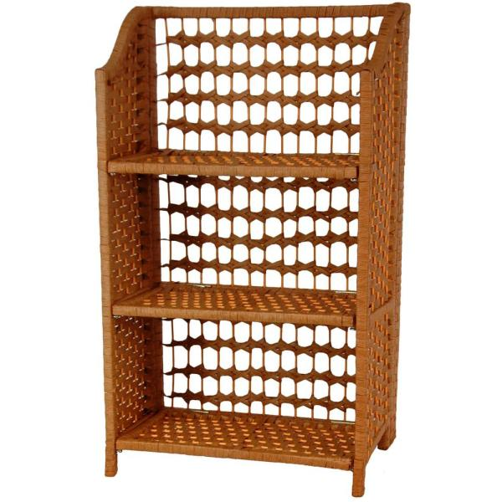 Oriental Furniture 3-Shelf Honey Natural Fiber Shelving Trunk JH09-018-3-HON