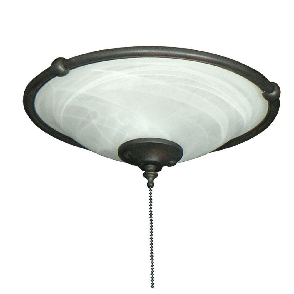 TroposAir 173 Ringed Bowl Oil Rubbed Bronze Ceiling Fan Light