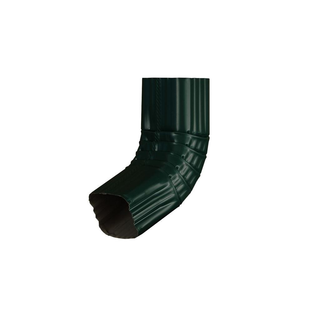 3 in. x 4 in. Grecian Green Aluminum Downspout A Elbow