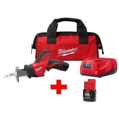 M12 12-Volt Lithium-Ion Cordless HACKZALL Reciprocating Saw Kit With Free M12 2.0Ah Battery