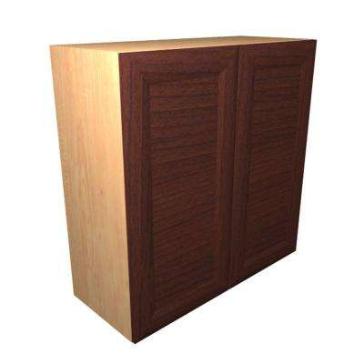 Dolomiti Ready to Assemble 24 x 38 x 12 in. Wall Cabinet with 2 Soft Close Doors in Cherry