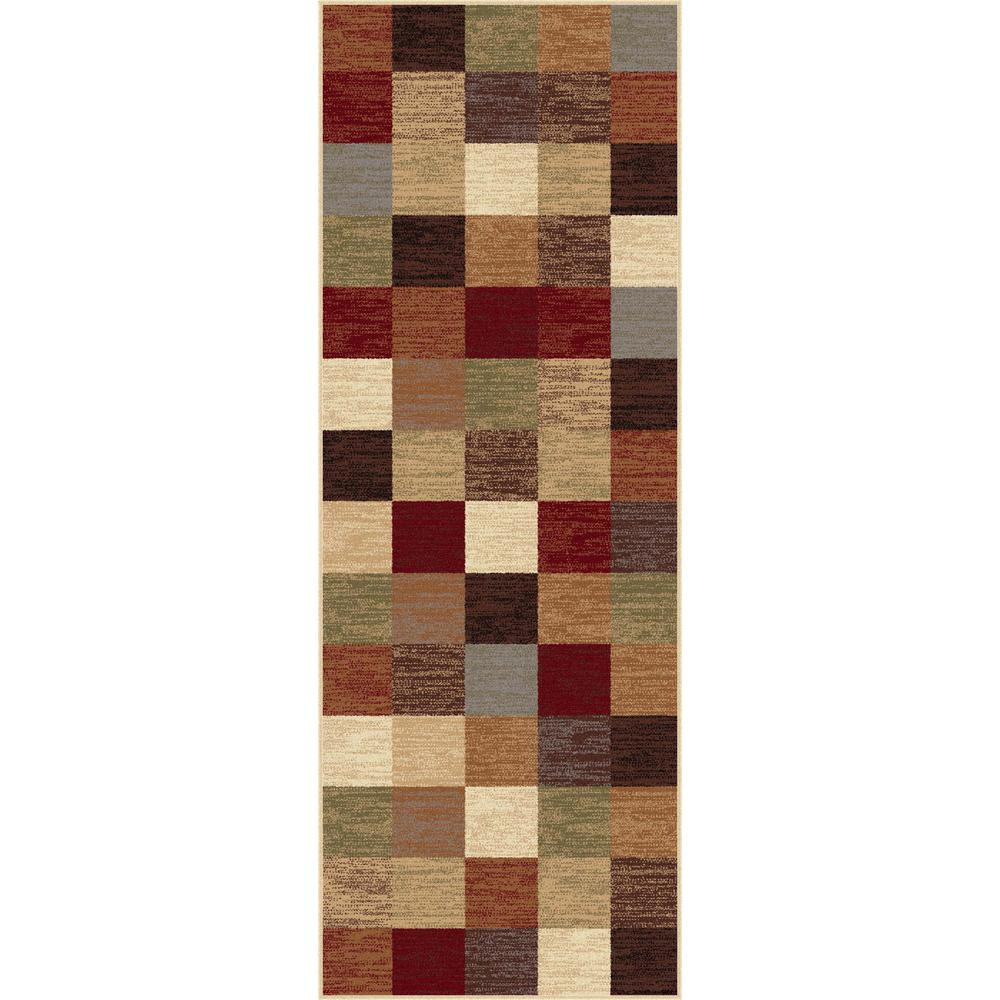 Tayse Rugs Festival Multi 2 ft. 7 in. x 7 ft. 3 in. Contemporary Runner