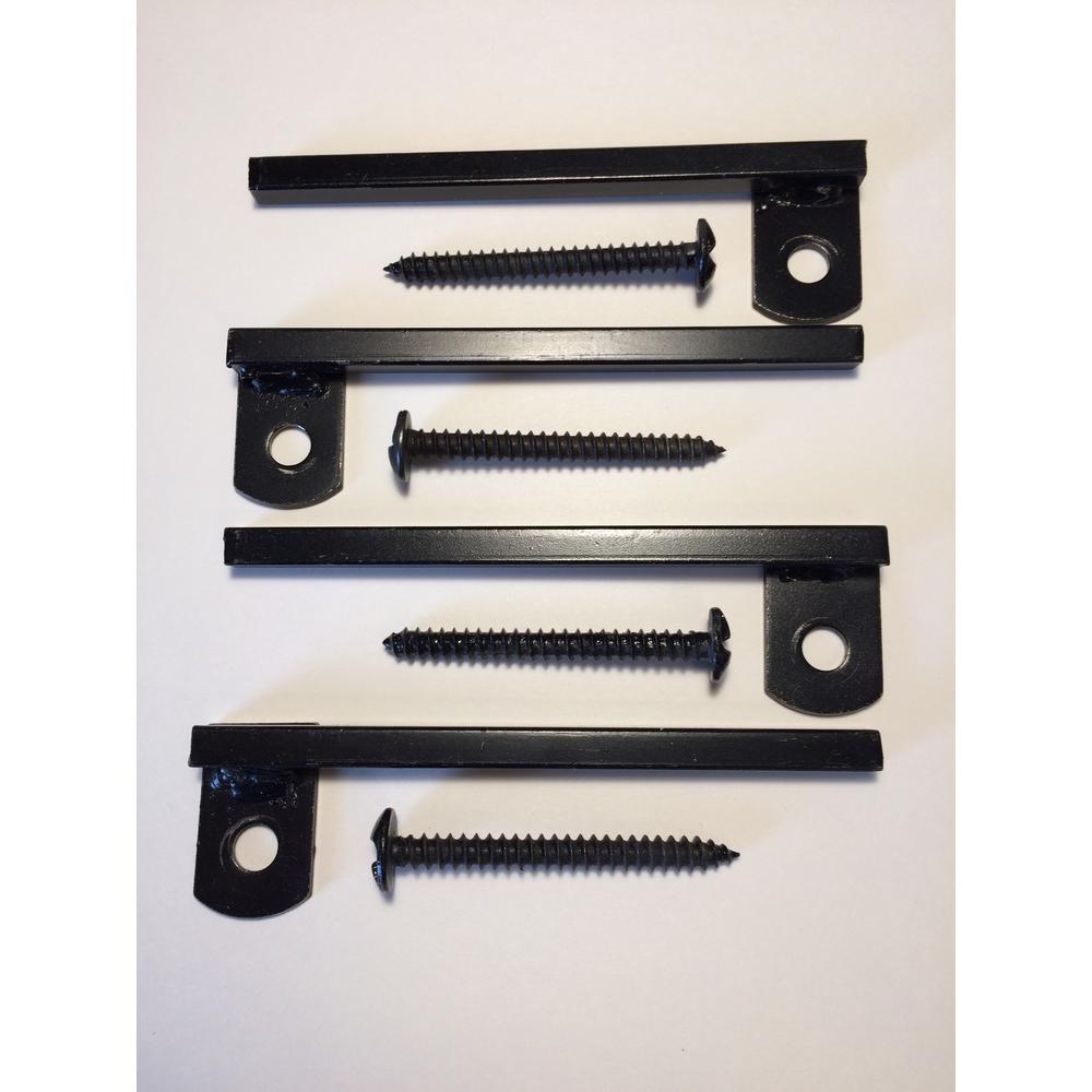 Flush-Mount Window Bar Brackets (4-Pack)