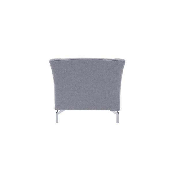 Remarkable Sandy Wilson Camilla Mid Century Light Grey Modern Chair Bralicious Painted Fabric Chair Ideas Braliciousco