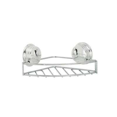 Twist 'N' Lock Plus Corner Soap Basket in Chrome