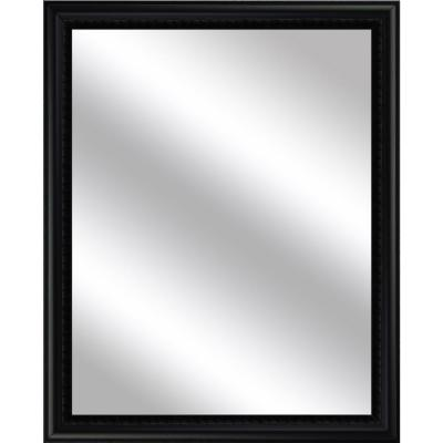 Medium Rectangle Black Art Deco Mirror (30.75 in. H x 24.75 in. W)
