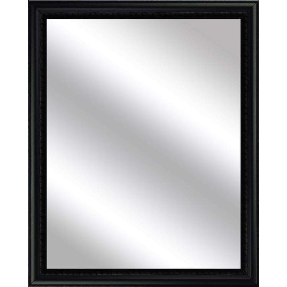 Medium Rectangle Black Art Deco Mirror (30.75 in. H x 24.75 in. W)