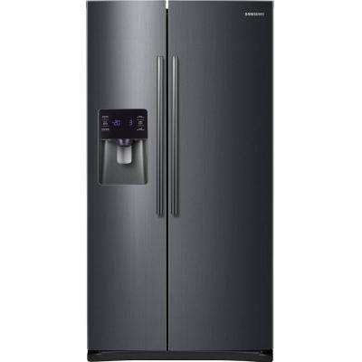 24.5 cu. ft. Side by Side Refrigerator in Black Stainless Steel