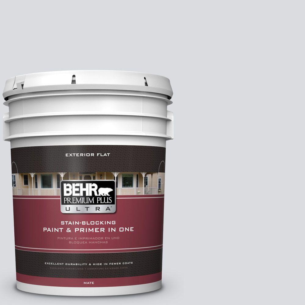 BEHR Premium Plus Ultra 5-gal. #N540-1 Script White Flat Exterior Paint