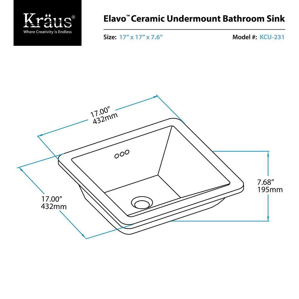 Ceramic Undermount Bathroom Sink