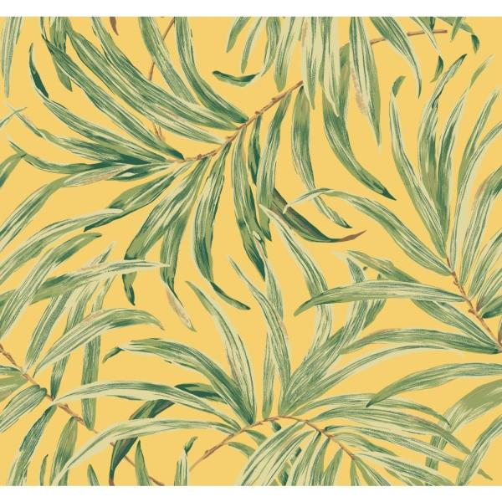 York Wallcoverings Tropics Bali Leaves Wallpaper At7052 The Home Depot