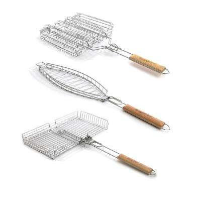 3-Piece Grill Basket Set