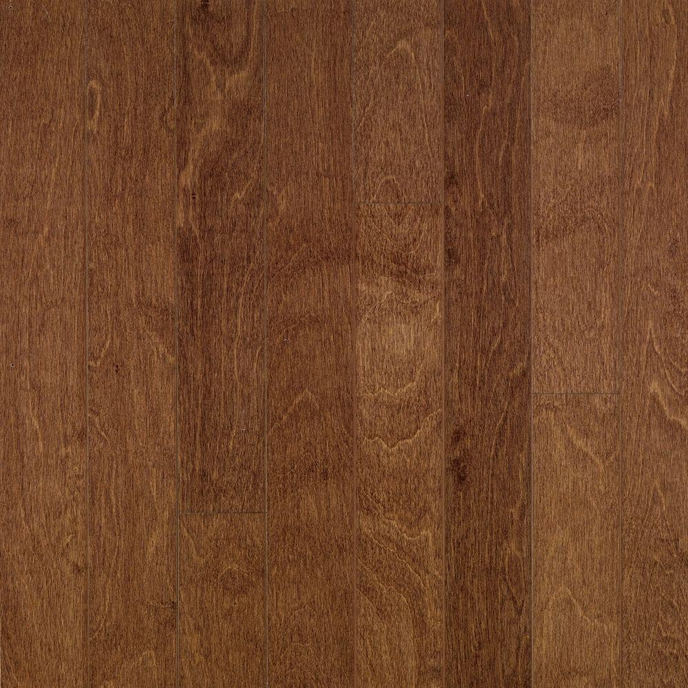 Bruce Take Home Sample Town Hall Exotics Birch Clove Engineered Hardwood Flooring 5 In
