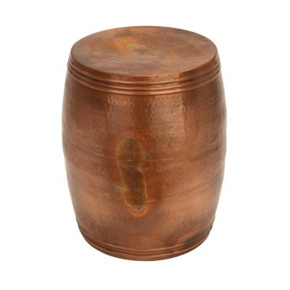 Bronze Metal Drum Stool
