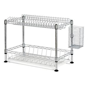 Sandusky 2-Tier Wire Dish Rack in Chrome WDR101812 Deals