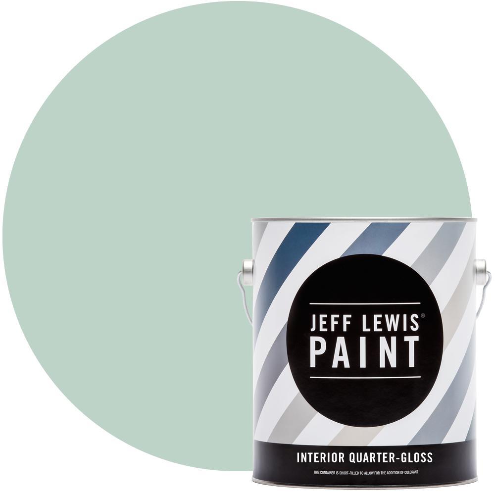 Jeff Lewis 1 gal. #513 Aloe Quarter-Gloss Interior Paint