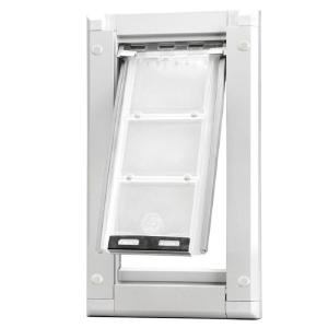 Endura Flap 8 in. x 15 in. Medium Single Flap for Doors Pet Door with White Aluminum Frame-03PP08 1 - The Home Depot  sc 1 st  The Home Depot & Endura Flap 8 in. x 15 in. Medium Single Flap for Doors Pet Door ... pezcame.com