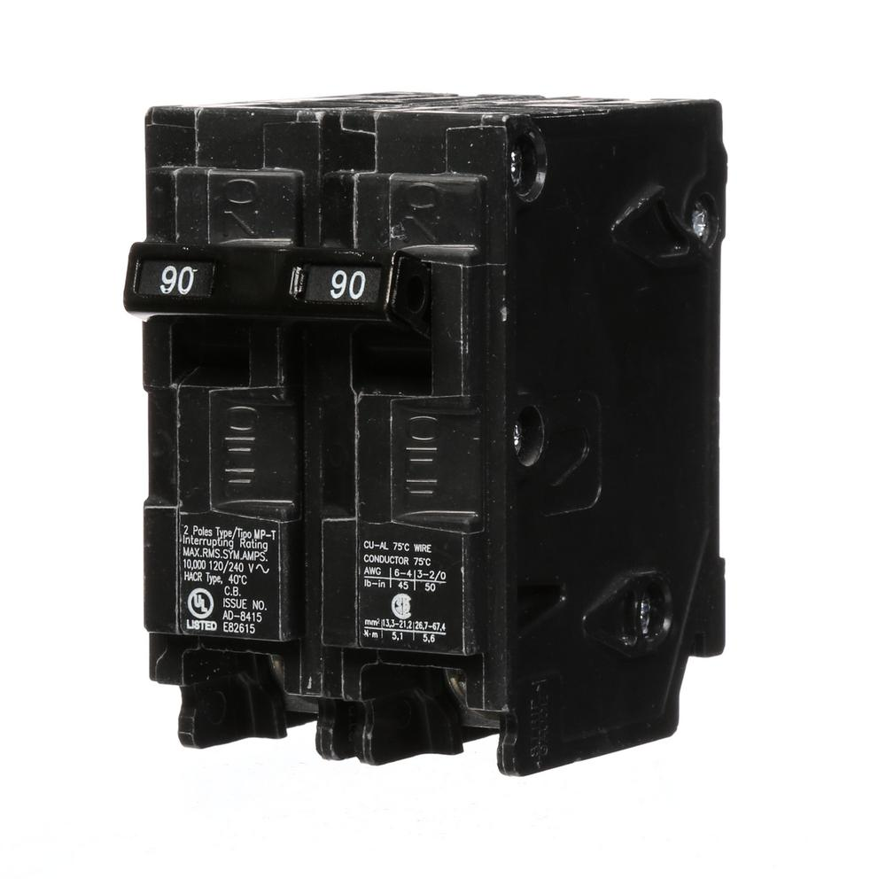 90 Amp Double-Pole Type MP Circuit Breaker