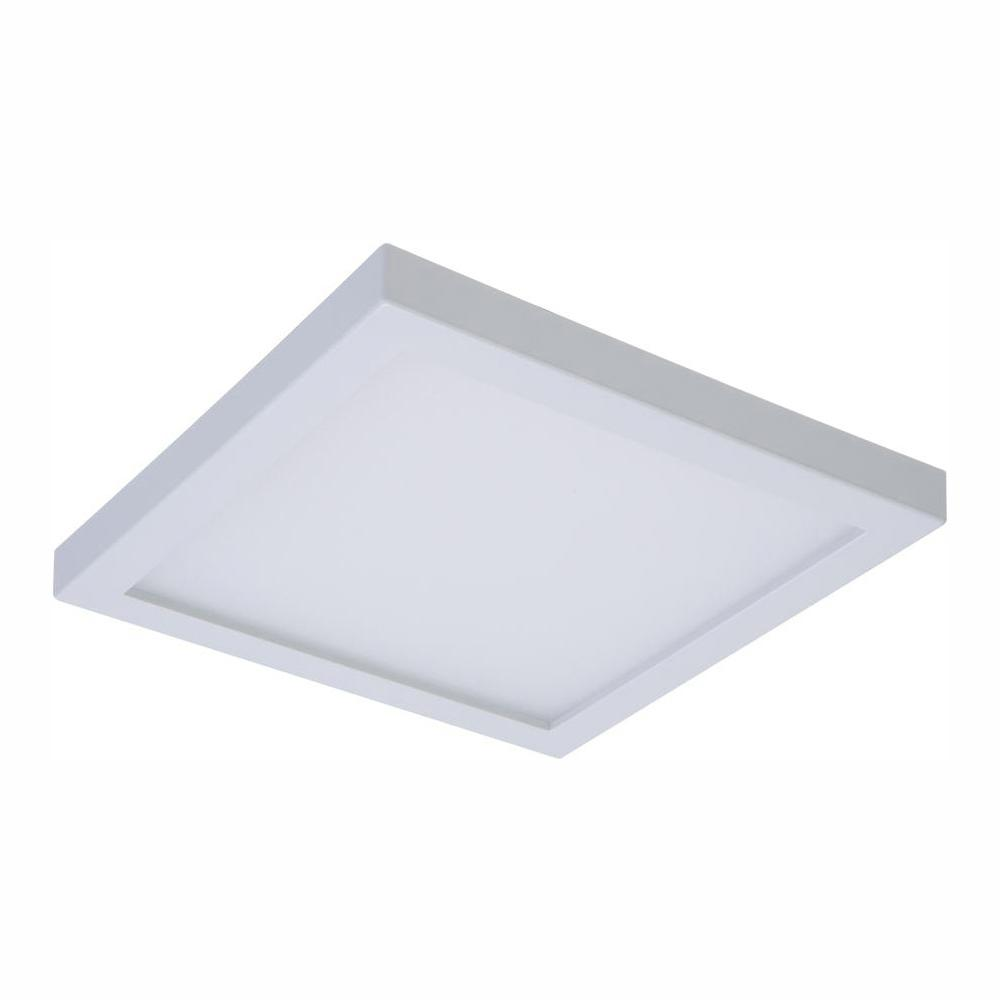 Halo Smd 4 In 4000k Cool White Integrated Led Recessed Square Surface Mount Ceiling Light Trim With 90 Cri