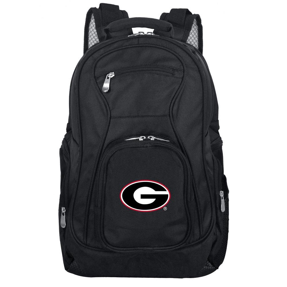 NCAA Georgia Black Backpack Laptop