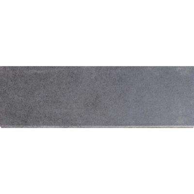 Beton Graphite Bullnose 4 in. x 12 in. Glazed Porcelain Wall Tile (1 lin. ft.)