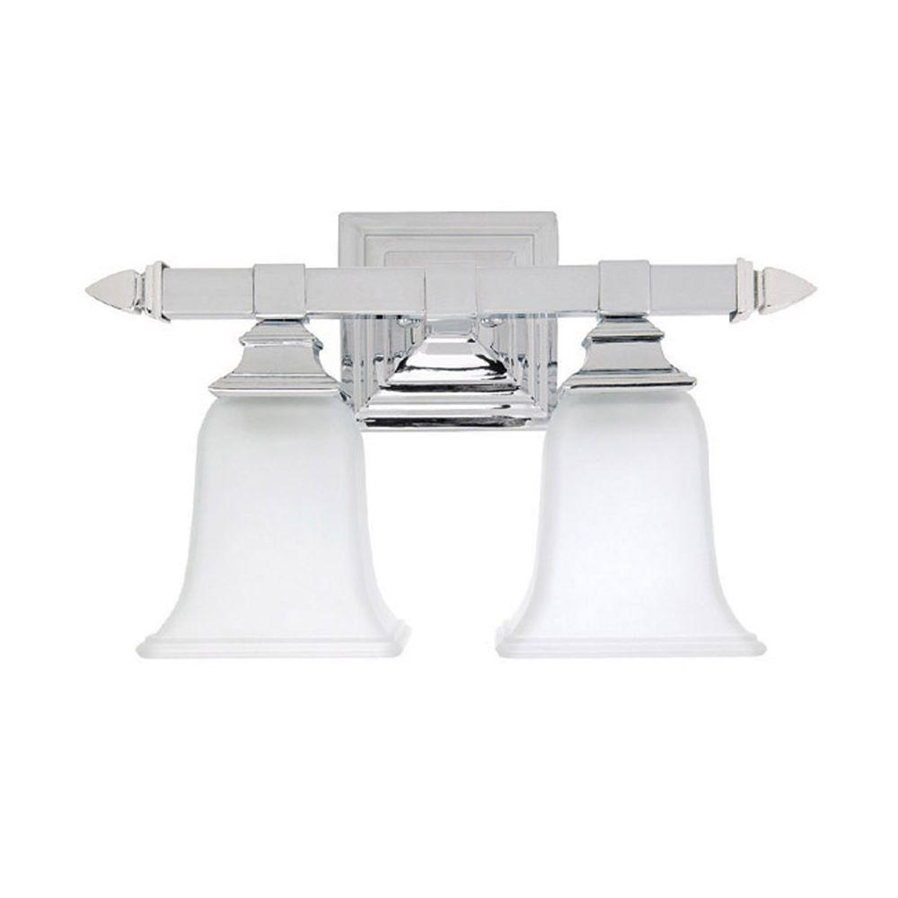 Johnson 2-Light Chrome Incandescent Bath Vanity Light