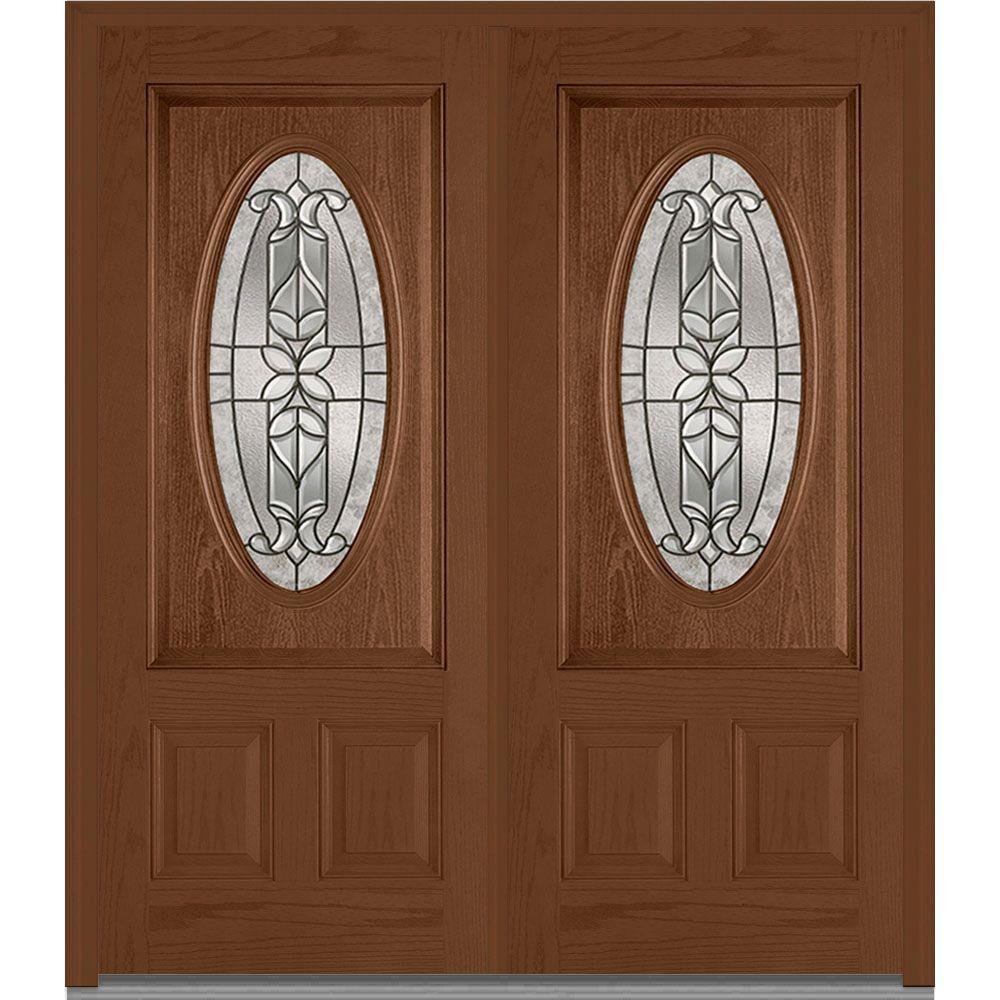 Double Doors Exterior Home Depot: MMI Door 74 In. X 81.75 In. Cadence Decorative Glass 3/4