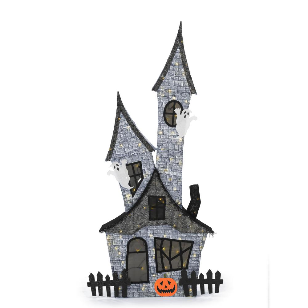 HomeAccentsHoliday Home Accents Holiday 80 in. Halloween Haunted Ghost House