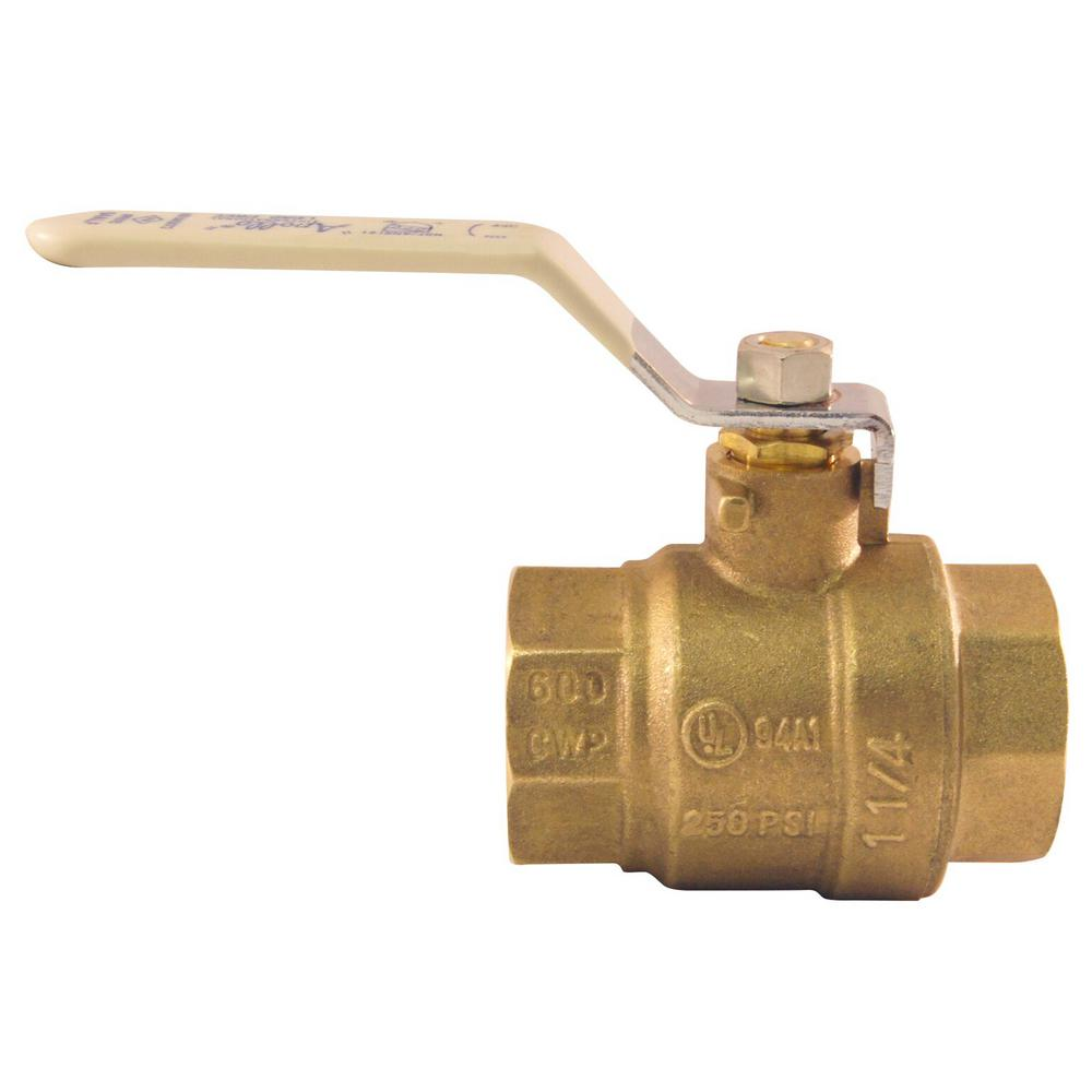 1-1/4 in. Lead Free Brass FNPT x FNPT Full-Port Ball Valve