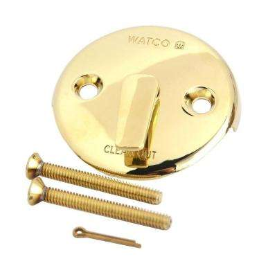 Trip Lever Bathtub Overflow Plate Kit, Polished Brass