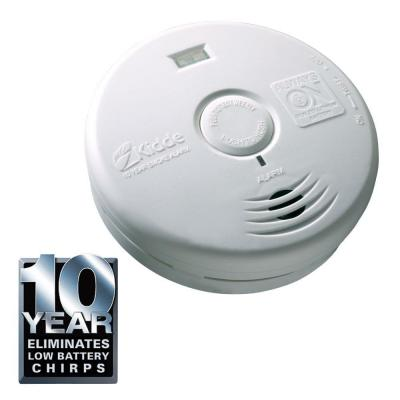 10-Year Worry Free Sealed Battery Smoke Detector with Safety Light