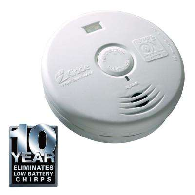 10-Year Worry Free Lithium Battery Operated Smoke Alarm with LED Escape Light for Hallway