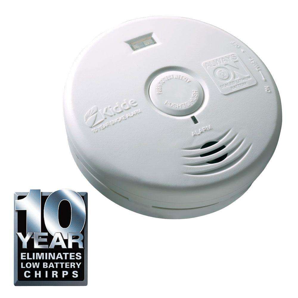 Kidde Worry Free 10-Year Sealed Battery Smoke Detector with Safety Light