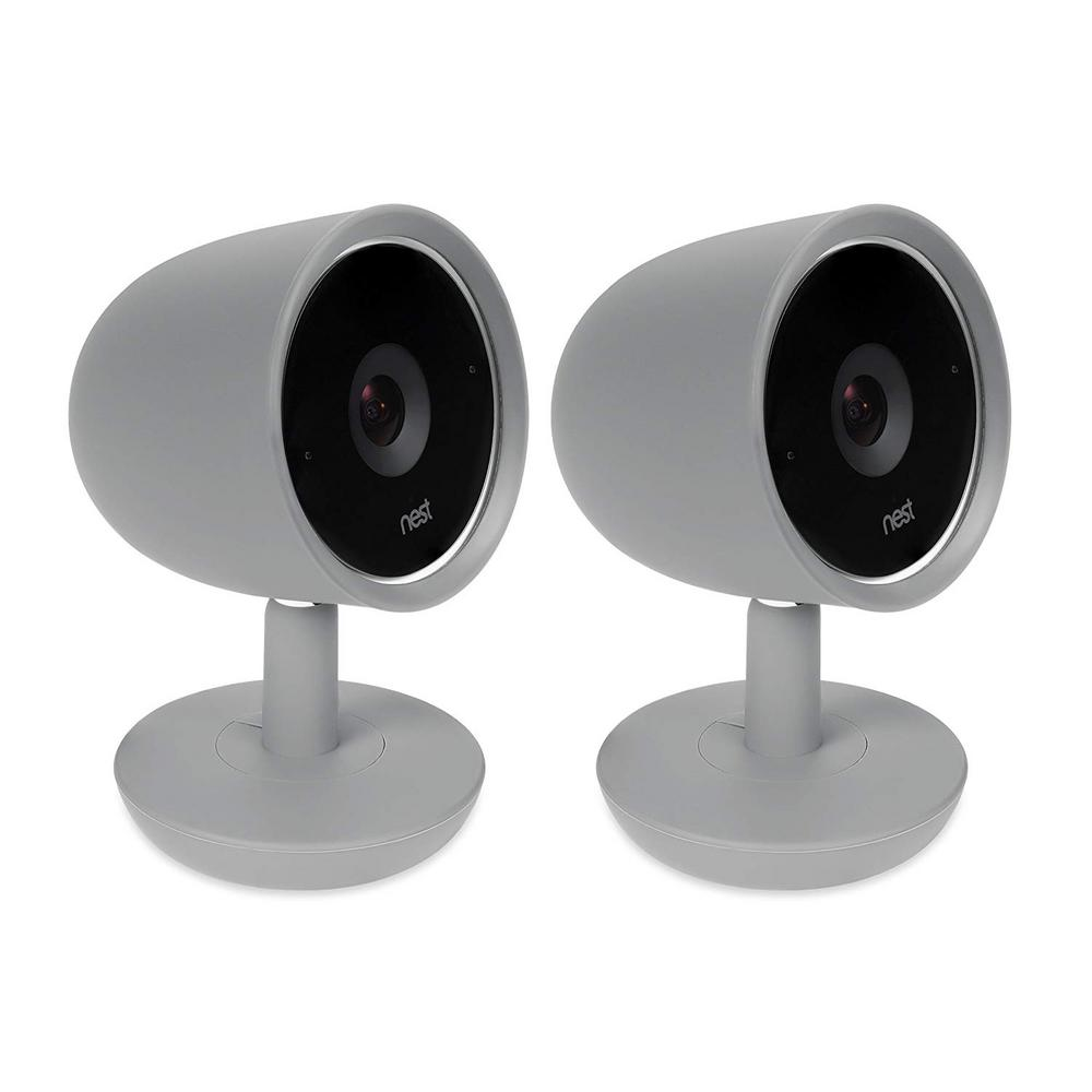 Wasserstein Colorful Silicone Skins Compatible with Nest Cam IQ Security  Camera, Gray (2-Pack)