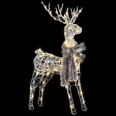 48.43 in. Frozen Fire Silver Vines Buck