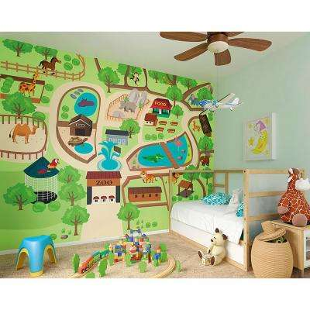 Zoo Time Wall Mural