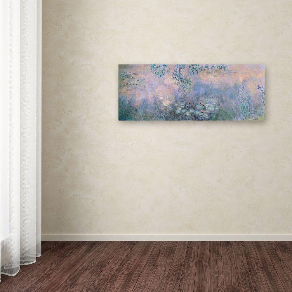 """Trademark Fine Art 6 in. x 19 in. """"Water Lilies 1914-22"""" Canvas Art"""