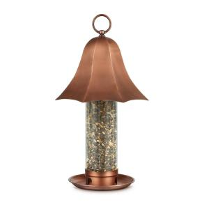 Bell Tube Large Copper Bird Feeder, 4 lbs. Seed Capacity