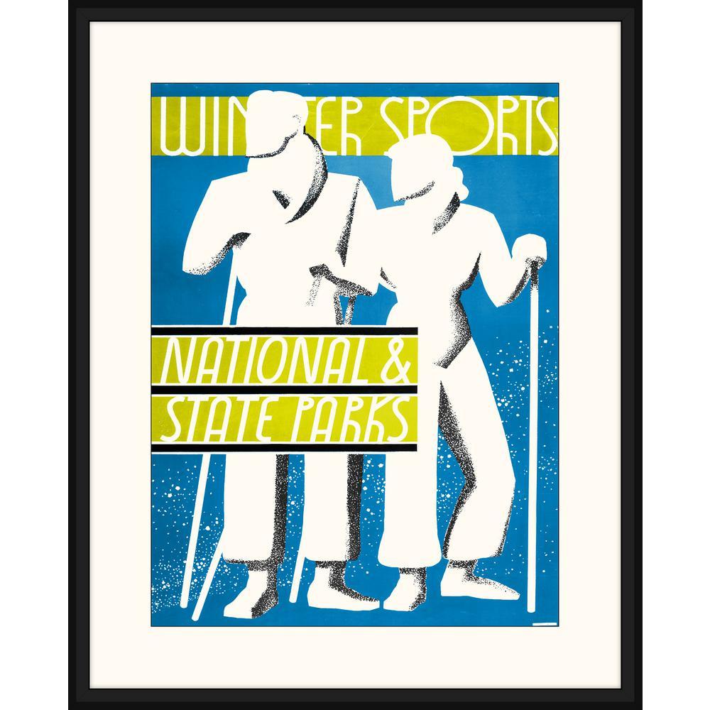 Melissa Van Hise Ski Poster Iv Framed Giclee Vintage Art Print 23 In X 29 In Ip20854 The Home Depot