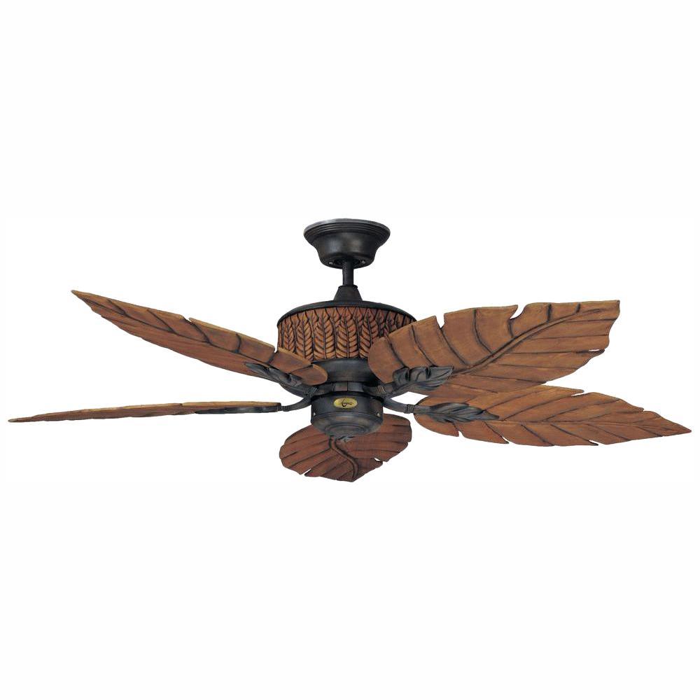 Indoor Outdoor Rustic Iron Ceiling Fan
